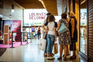 Les Rives de l'Orne Visiteurs Apsys Caen centre commercial