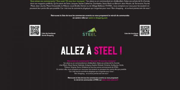 Advertising Steel Saint Etienne local shoppers